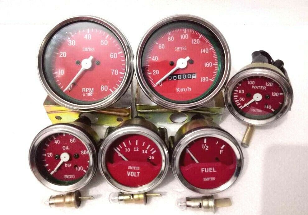 Smiths-52mm-Kit-RED Temp-Oil Fuel Volt Gauge Mph Speedometer Tachometer-Replica.jpg