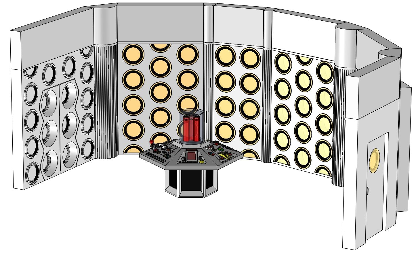 Season 18-20 TARDIS Console Room Assembly and Controls_001.JPG