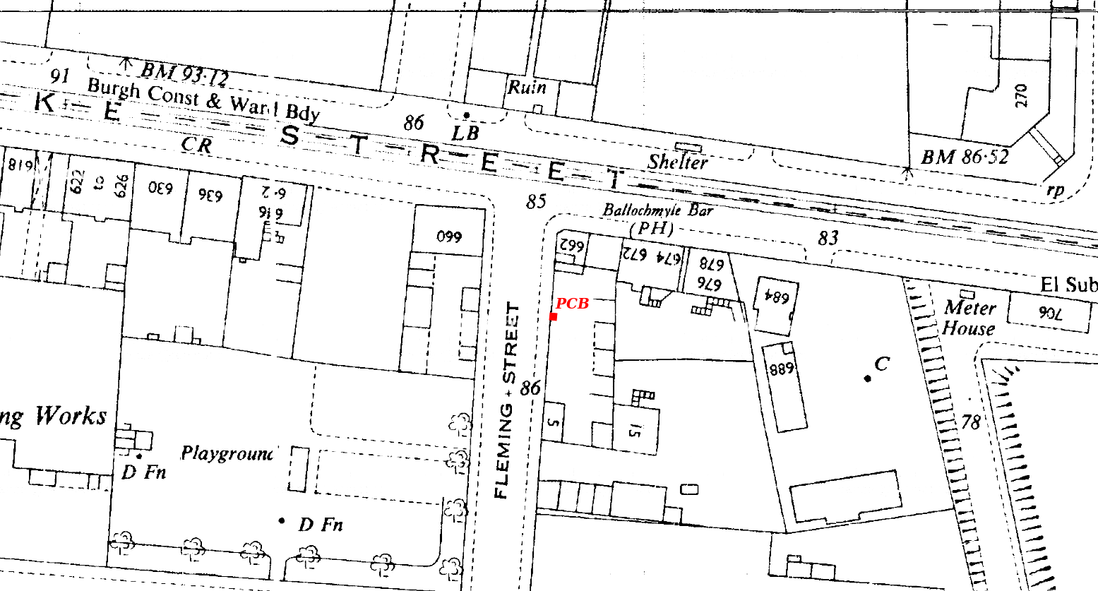 C31--Glasgow Mark 2-Fleming St at Duke St--1951-1954 OS Map Extract 1-1250 (Site in red).png