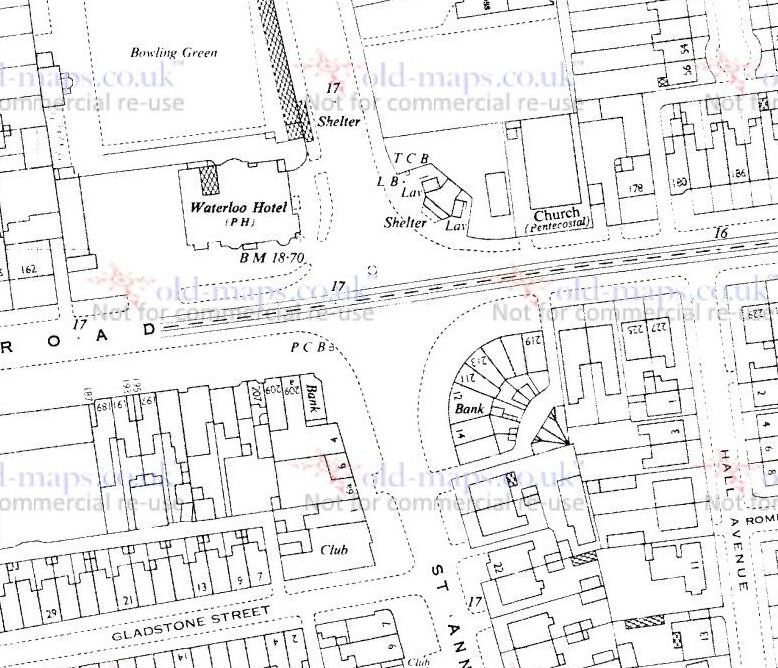 PCB - Waterloo Road at St Annes Road - OS Map 1963.jpg