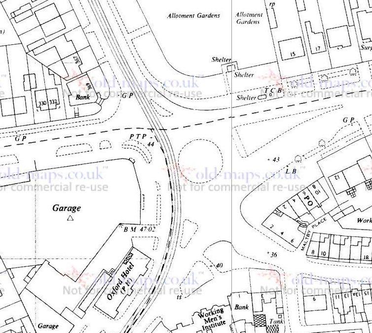 PTP - Preston A7053 at Waterloo road - OS Map 1963.jpg