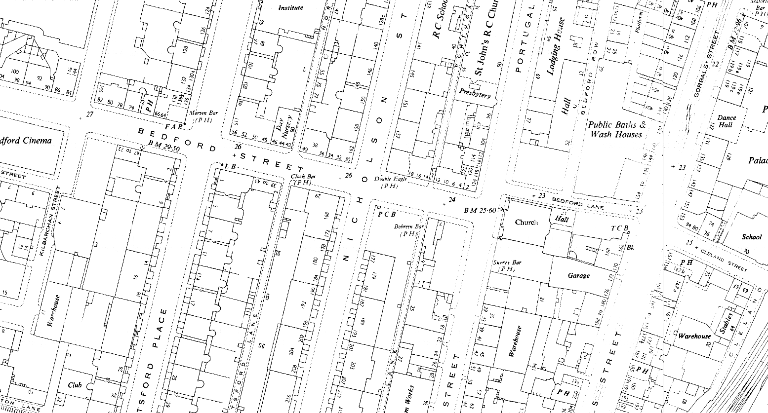 D2--Bedford Street at Nicholson Street-Apsley Place--1953 OS map Extract 1-1250.png