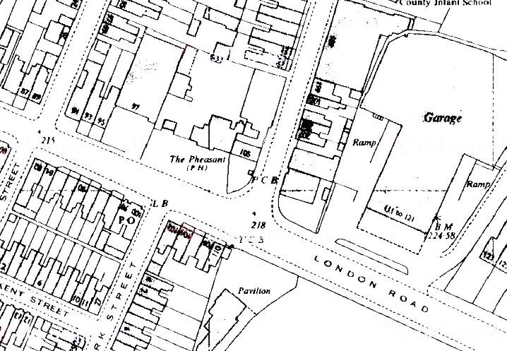 London Road at Gordon Road - 1968 (1-2500)--cropped.jpg